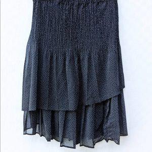 Vintage Ruffled layered Skirt chiffon skater